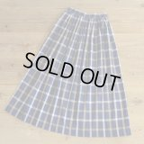 David Brooks Cotton Check Long Skirt 【Ladys】