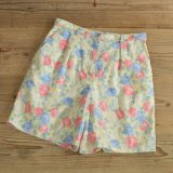 JONES WEAR Flower Pattern Linen Half Pants 【Ladys】