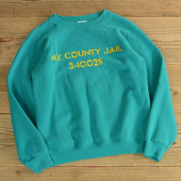 画像1: Hanes JAIL Print Sweat MADE IN USA 【Ladys】