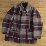 70s Richman BROTHERS Wool Check Coat MADE IN USA 【Large】