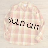 60-70s FRUIT OF THE LOOM Check Shirts MADE IN USA Dead Stock 【Medium】