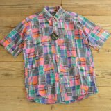 Flying Scotsman Patchwork Check Half Shirts MADE IN USA Dead Stock 【Medium】