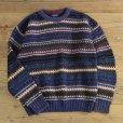 画像1: GANT Cotton Knit Border Sweater (1)
