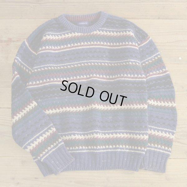 画像1: GANT Cotton Knit Border Sweater