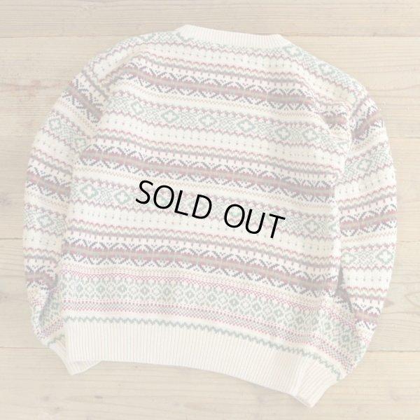 画像2: IZOD Cotton Knit FairIsle Pattern Sweater