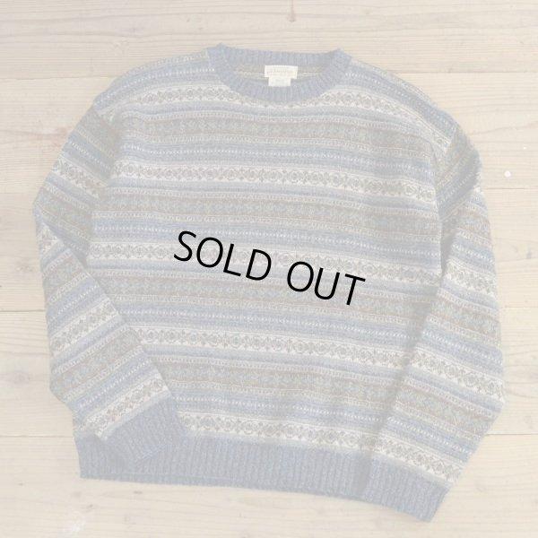 画像1: St JHON`S BAY All Over Pattern Crew Neck Sweater