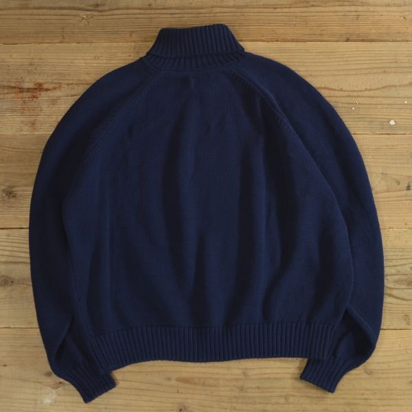 画像2: LANDS`END Turtle Neck Cotton Knit Sweater