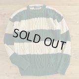 CRAYBROOKE Ramie/Cotton Knit Border Sweater