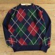 画像1: BROOKS BROTHERS Cotton Knit Argyle Sweater (1)