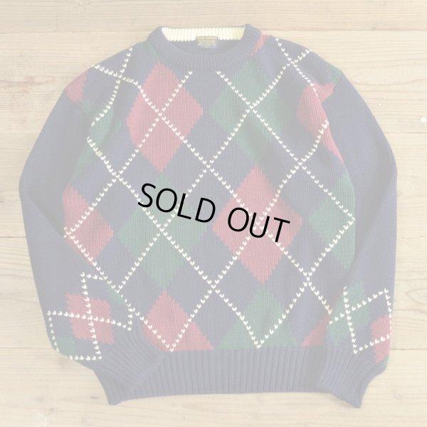 画像1: BROOKS BROTHERS Cotton Knit Argyle Sweater