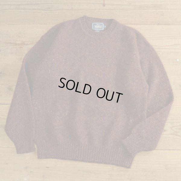 画像1: Woolrich Wool Nep Crew Neck Sweater 【Medium】