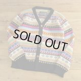 ARTESANIA FairIsle Pattern Wool Knit Cardigan 【Small】