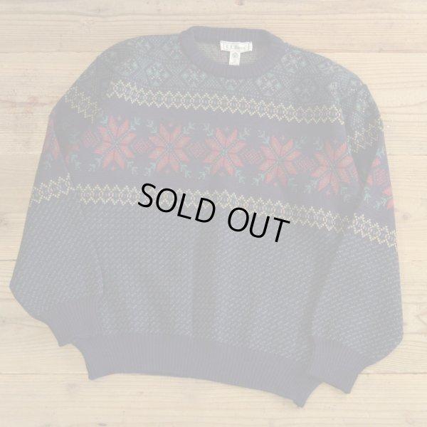 画像1: L.L.Bean Snow Flake Wool Sweater 【Medium】
