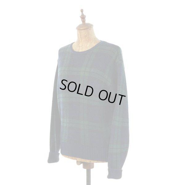 画像1: Polo Ralph Lauren ポロ ラルフローレン チェック コットンニット セーター 【約 Mサイズ】 【レディース】