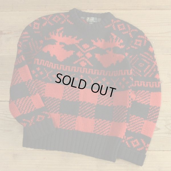 画像1: Polo Ralph Lauren Wool Knit Nordic Sweater
