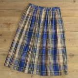 Talbots Cotton Check Long Skirt 【Ladys】