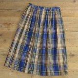 Talbots Cotton Check Long Skirt 【Ladys】