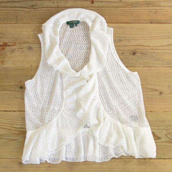 画像1: LAUREN Ralph Lauren Frill Knit Vest 【Ladys】