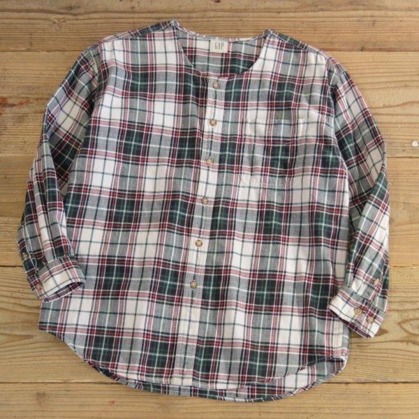 画像1: GAP No Collar Flannel Shirts 【Ladys】