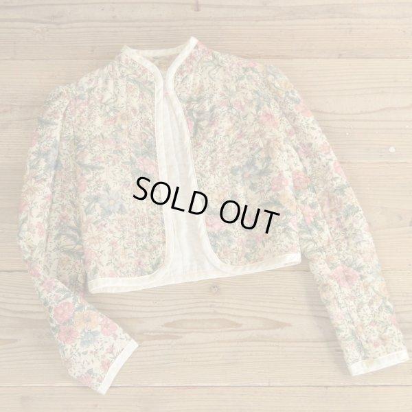 画像1: GUNNE SAX Flower Pattern Quilting Short Jacket 【Ladys】