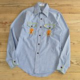 VAN HEUSEN Embroidery Chambray Shirts 【Ladys】