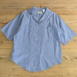 L.L.Bean Chambray Half Shirts MADE IN USA 【Ladys】