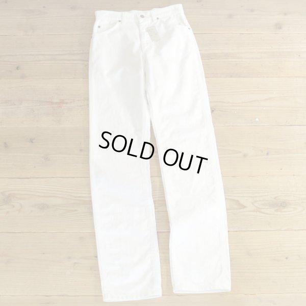 画像1: Lee 200 White Denim Pants MADE IN USA Dead Stock 【W28】