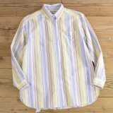 L.L.Bean Stripe B.D Shirts MADE IN USA 【Small】