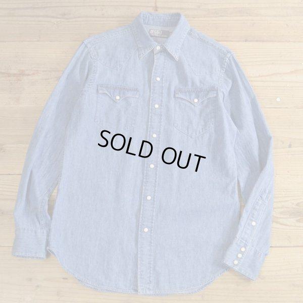 画像1: Polo Ralph Lauren Denim Western Shirts 【Small】