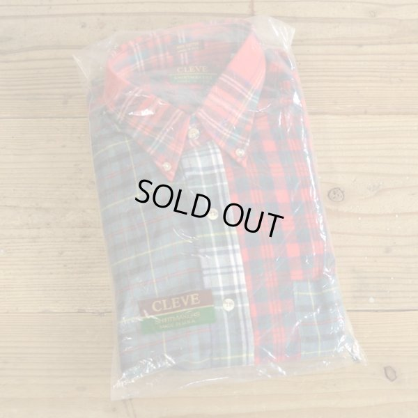 画像1: CLEVE Crazy Pattern Flannel Shirts MADE IN USA Dead Stock 【Medium】