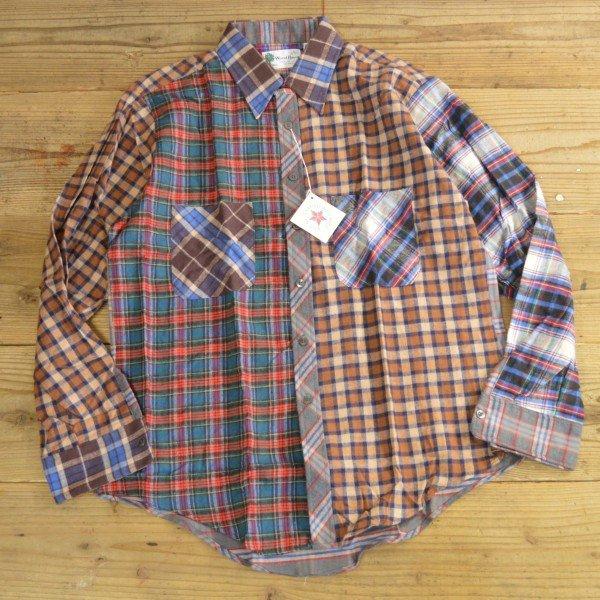 画像2: Wood Haven Crazy Pattern Flannel Shirts MADE IN USA Dead Stock 【Large】