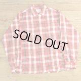 60-70s TOWNCRAFT Check Open Collar Shirts 【Medium】