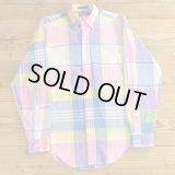 Polo Ralph Lauren ポロ ラルフローレン チェックシャツ ボタンダウン USA製 【XSサイズ】