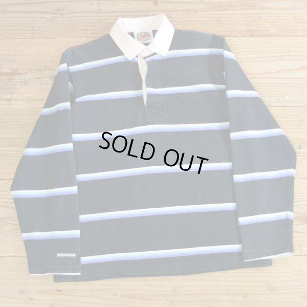 画像1: BARBARIAN バーバリアン ボーダー ラガーシャツ カナダ製 【Sサイズ】