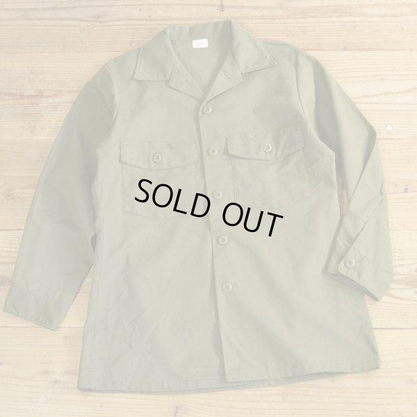 画像1: 80年代 US ARMY ミリタリーシャツ 【15 1/2×31】