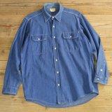 Melton メルトン デニム ワークシャツ USA製 【Lサイズ】