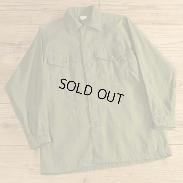 画像1: 60年代 US ARMY ミリタリーシャツ 【15 1/2×31】