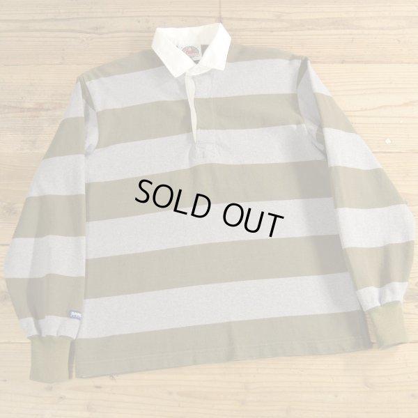画像1: BARBARIAN バーバリアン ボーダー ラガーシャツ カナダ製 【Mサイズ】