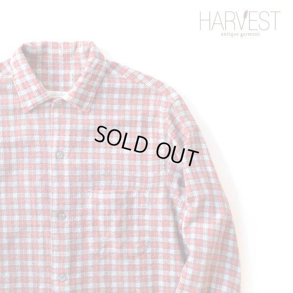 画像1: Unknown Old Print Flannel Shirts