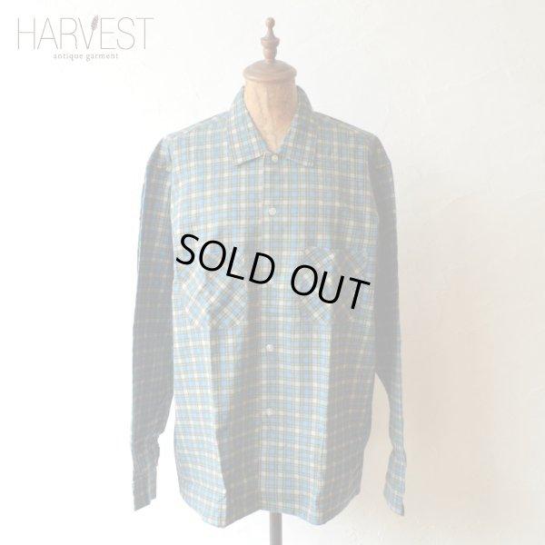 画像1: 70s TOWN Topic Print Flannel Shirts Dead Stock