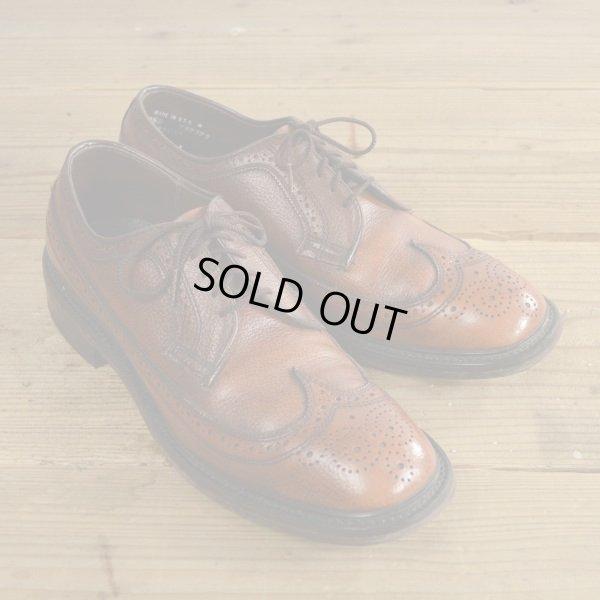 画像1: Unknown Wing Tip Leather Shoes