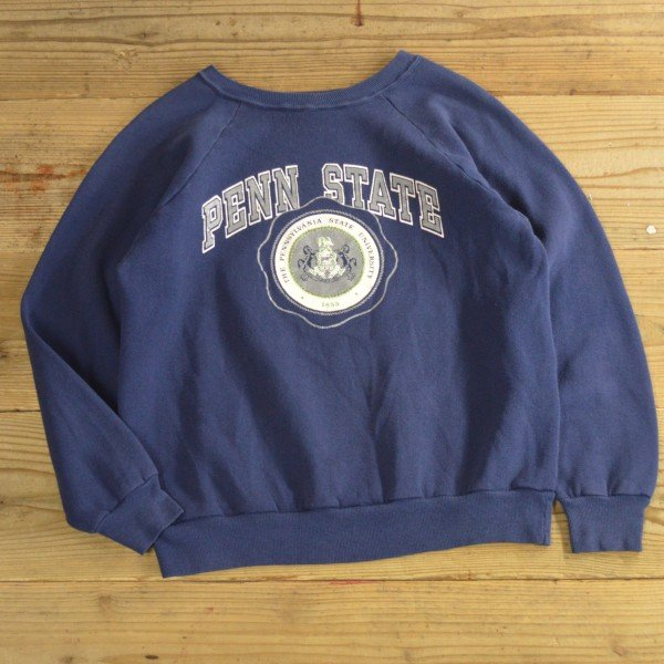 画像1: 80s Champion College Print Sweat MADE IN USA 【Large】
