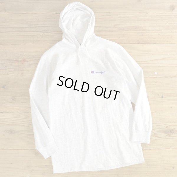 画像1: 90s Champion Long T-Shirts with Hood MADE IN USA 【Medium】