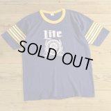 80s Miller Lite Print T-Shirts 【Medium】