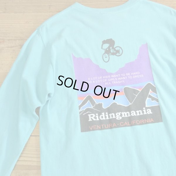 画像1: Ridingmania Print Long T-Shirts MADE IN USA 【Small】