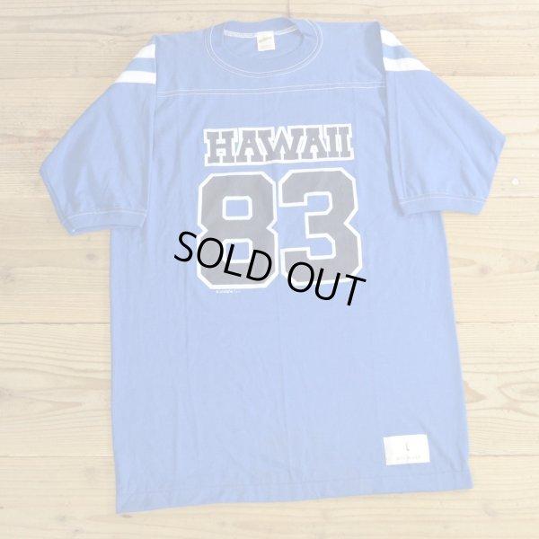 画像1: 80年代 Sportswear スポーツウェア ハワイ ナンバリング フットボールTシャツ USA製 デッドストック 【Lサイズ】