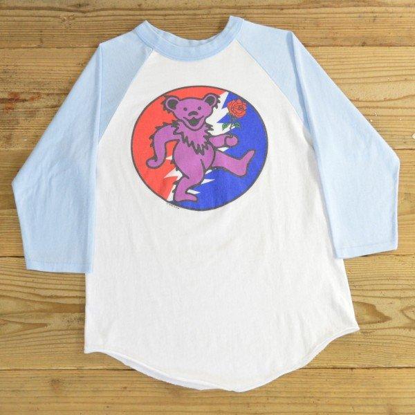 画像1: グレイトフルデッド デッドベア ラグラン Tシャツ 7分袖 USA製 【Sサイズ】
