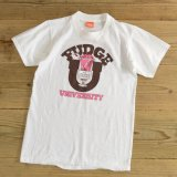 80s SUPER SCREEN STARS FUDGE UNIVERSITY Print T-Shirts