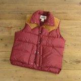 70s Woolrich Suede Nylon Down Vest 【Large】