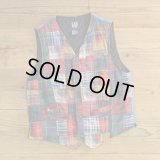 90s GAP Patchwork Denim Vest 【Medium】